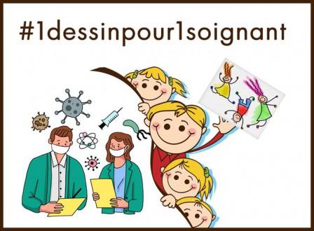 Projet Art Visuel De La Maternelle Au Cm2 1 Dessin Pour 1 Soignant Ecole Primaire Louis Collas De Saintines